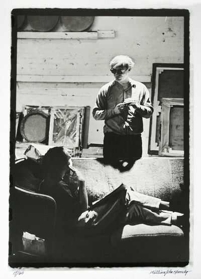 William John Kennedy, 'Andy Warhol and Taylor Mead having a break ', 1964