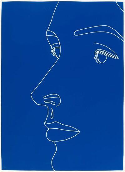 Alex Katz, 'Vivien on Blue', 2007