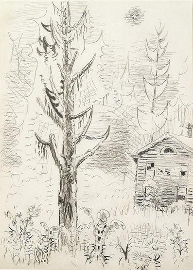 Charles Ephraim Burchfield, 'Pine Tree and Star', 1960