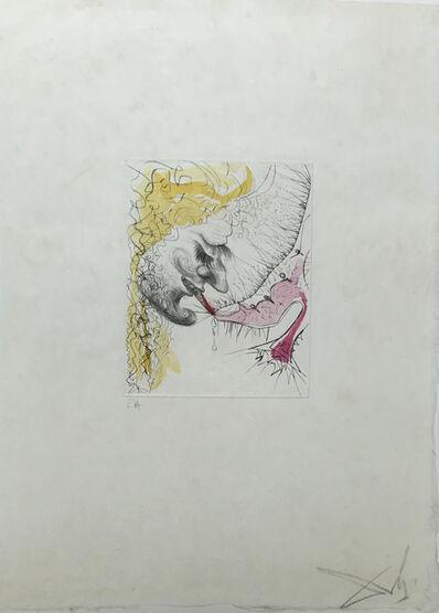 Salvador Dalí, 'The man kissing the shoe', 1968