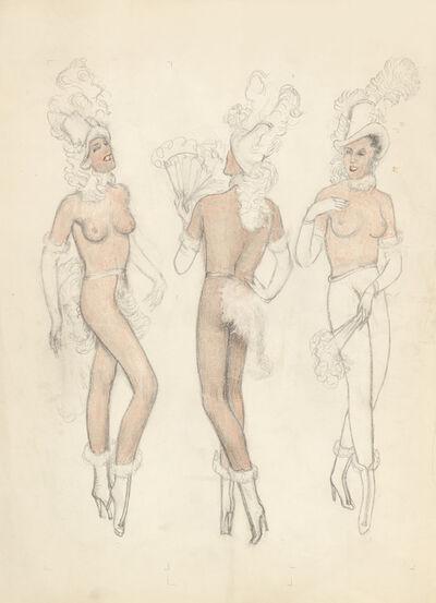 Alfons Walde, 'Three Vaudeville Dancers', ca. 1919
