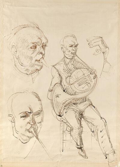 Mark Tobey, 'Untitled (Studies for Hornblower)', 1952