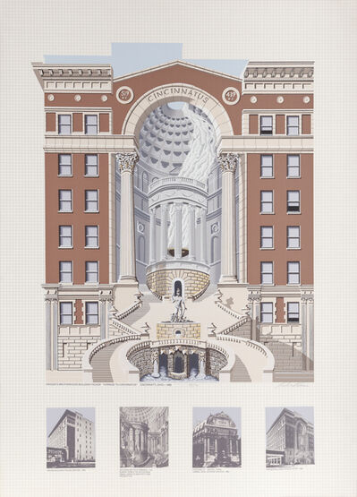 Richard Haas, 'Krogers Brotherhood Building', 1989