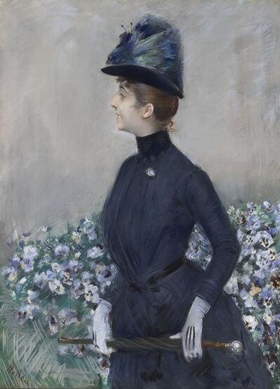 Paul César Helleu, 'La femme aux fleurs (Portrait de Mathilde See)', ca. 1910
