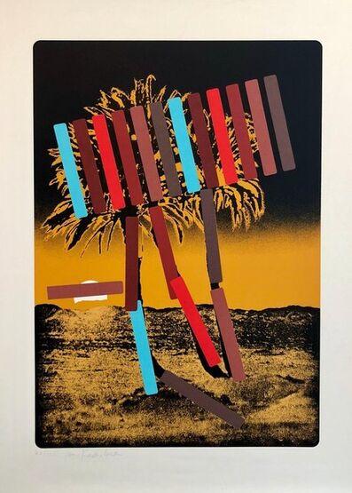 Menashe Kadishman, 'Israeli Modern Pop Art Photo Silkscreen Serigraph Palm Trees Kadishman', 1970-1979