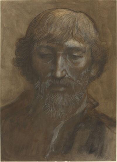 Alphonse Legros, 'Head of a Man, Full Face'