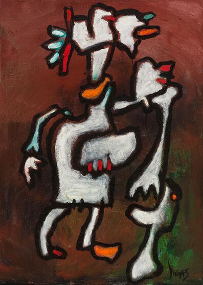 Oswaldo Vigas, 'Coloniera con duende blanco ', 2000