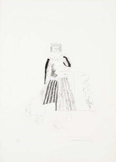 David Hockney, 'The Rescued Princess, from 'Illustrations for Six Fairy Tales from the Brothers Grimm' (MCA Tokyo 99; Scottish Arts Council 102)', 1969