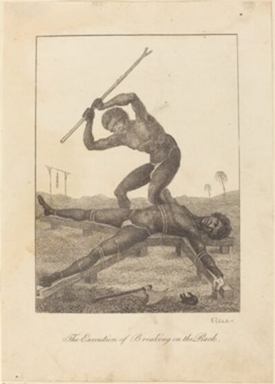 William Blake, 'The Execution of Breaking on the Rack', 1793
