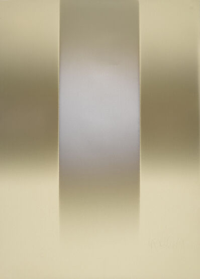 Larry Bell, 'VFTN 2 (Vertical Fade on Tan)', 1978
