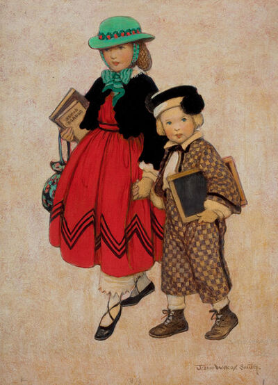 JESSIE WILLCOX SMITH, 'Two Little Girls, Good Housekeeping Cover', 1924