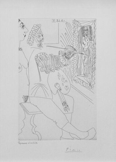 Pablo Picasso, 'ARTISTE PEINTRE AU TRAVAIL, AVEC UN MODELE LAID, FROM SERIES 347 (BLOCH 1711)', 1968