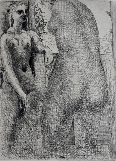 Pablo Picasso, 'Model and Back of Large Sculpture, from: La Suite Vollard | Modèle et grande sculpture de dos: La Suite Vollard', 1933