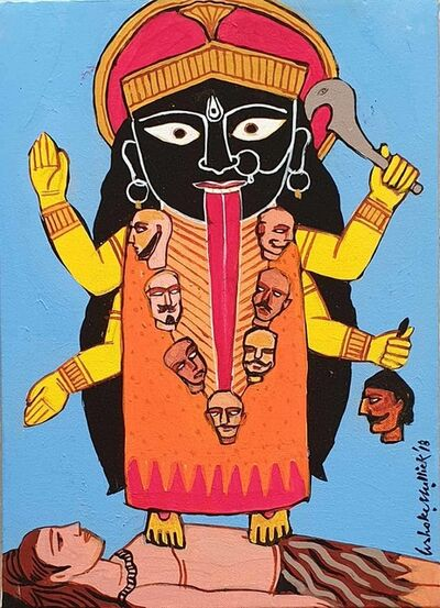"Ashoke Mullick, 'Kali, Acrylic on Canvas by Contemporary Artist ""In Stock""', 2018"