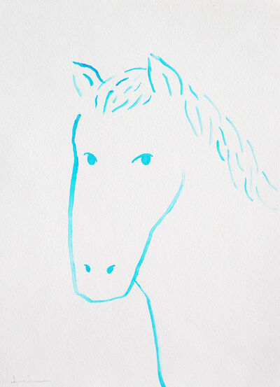 Nobuhiro Shimura, 'Portrait of horse #1', 2020