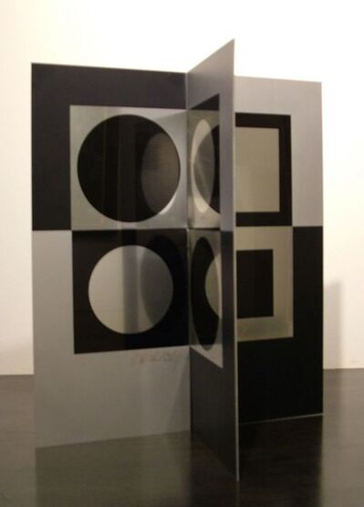 Victor Vasarely, 'Image-Miroir (from Le discours de la methode portfolio)', 1965