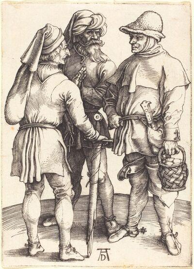 Albrecht Dürer, 'Three Peasants in Conversation', ca. 1497