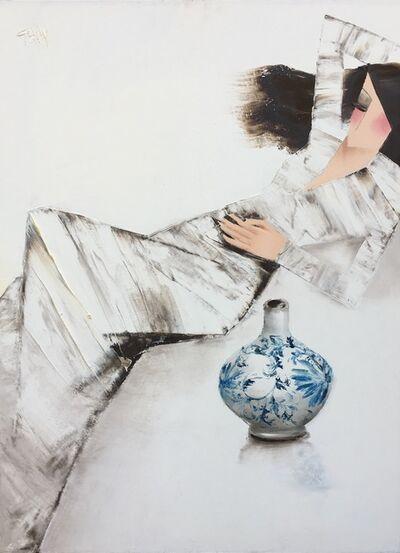 Nguyen Dieu Thuy, 'Blue Vase', 2017
