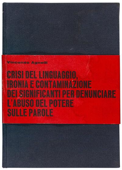 Vincenzo Agnetti, 'Tesi', 1972