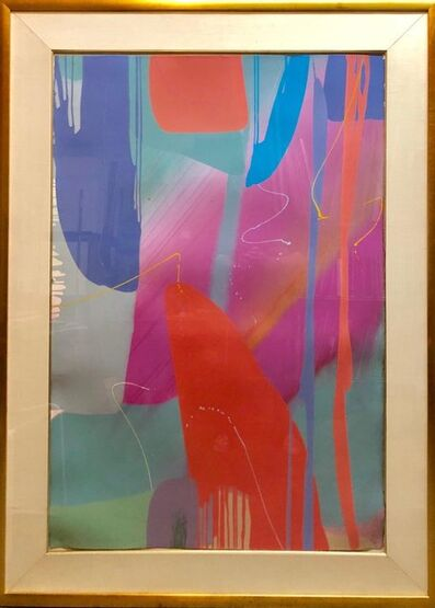 Lamar Briggs, 'Monumental Texas Modernist Abstract Expressionist Color Field Acrylic Painting', 1980-1989