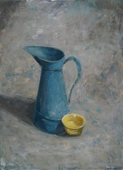 Albert Hadjiganev, 'Broc bleu et bol jaune', 2019