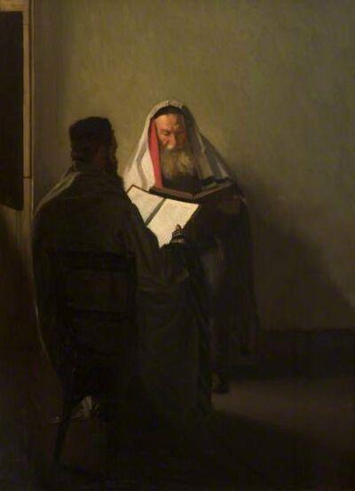 William Rothenstein, 'Corner of the Talmudic School', 1904