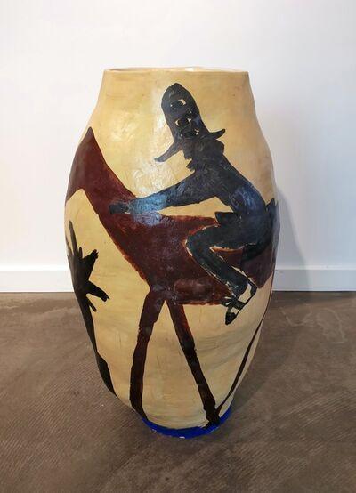 Mie Olise Kjærgaard, 'Rider on Horse on Yves Klein Blue', 2019
