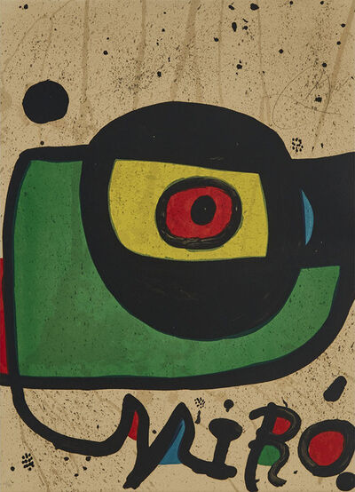 Joan Miró, 'Miro Pintura (Design For A Poster (Without Letters)', 1978