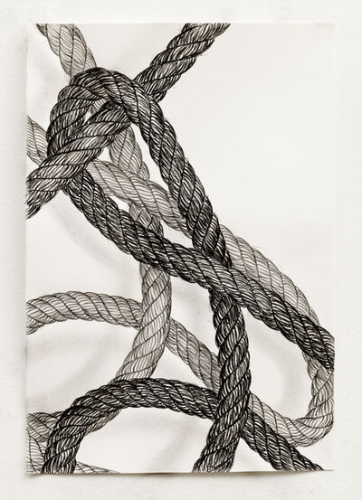 Claudia Parducci, 'Rope Drawing, Day 17', 2019