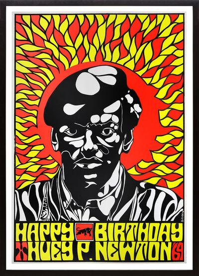 Bill Olive, 'Happy Birthday, Huey P. Newton '69', 1969