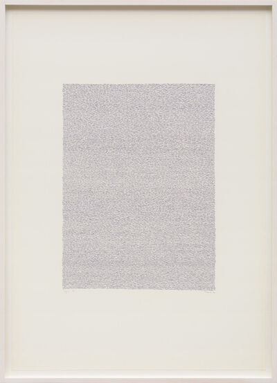 Irma Blank, 'Eigenschriften, Pagina 51', 1970