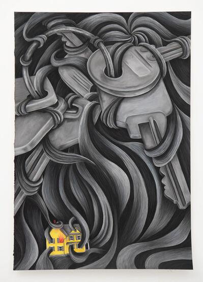Rebecca Ackroyd, 'Key in, house burning', 2020