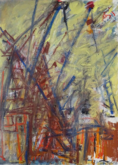Dennis Creffield, 'Looking South West: Old Bailey + Cranes', 1999