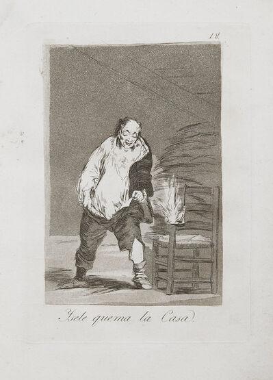 Francisco de Goya, 'Ysele Quema La Casa', 1799