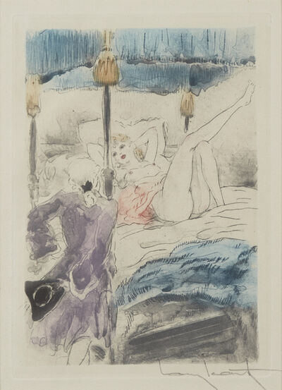 Louis Icart, 'Under the Canopy', 1946