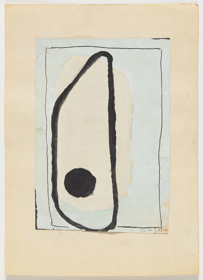 Vera Molnar, 'Oval with Point', 1947
