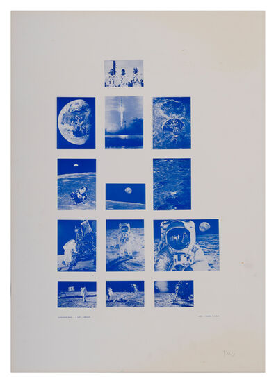 Stano Filko, 'Association XXXI. - 1st Flight - Moon', 1969