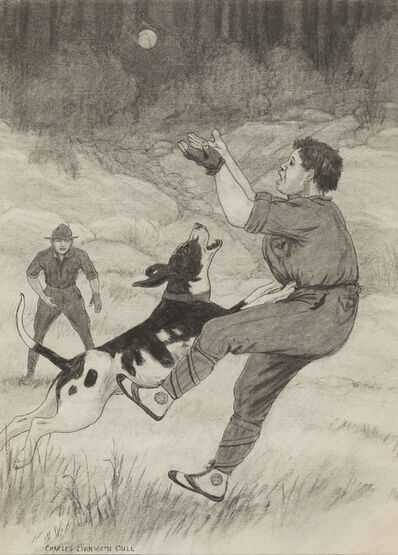 Charles Livingston Bull, 'Then He saw the Ball Falling into Harry's Hand, He loved the Ball'