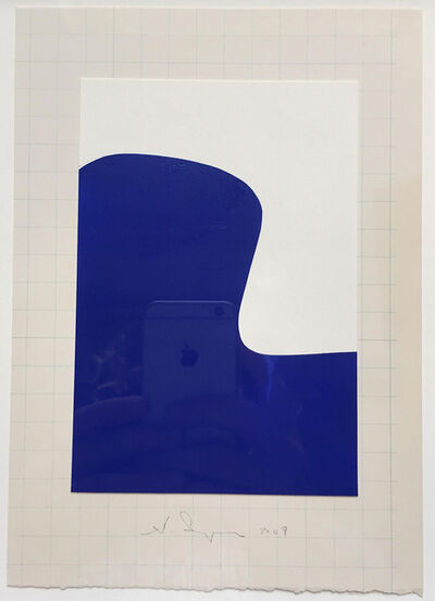 Scott Ingram, 'Jacobsen Chair (blue on graph) ', 2009