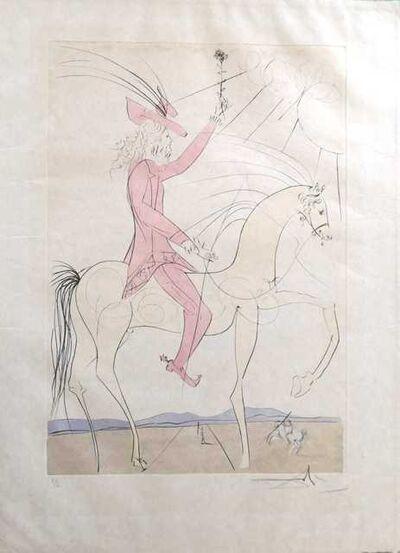 Salvador Dalí, 'Cavalier à la rose', 1974