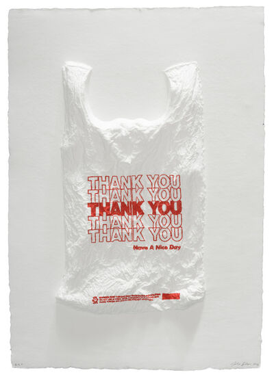 Analia Saban, 'THANK YOU THANK YOU THANK YOU THANK YOU THANK YOU Have a Nice Day Plastic Bag', 2016