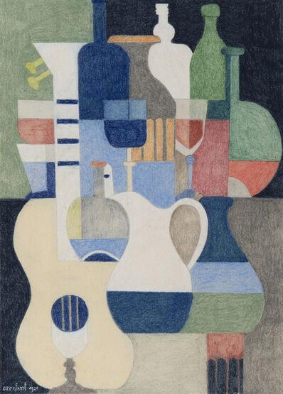 Amédée Ozenfant, 'Nature morte au pichet et à la guitare', 1921