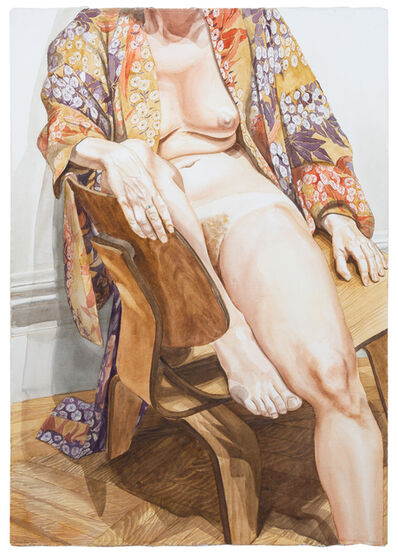 Philip Pearlstein, 'Model in Flowered Kimono Seated in Eames Chair', 1978
