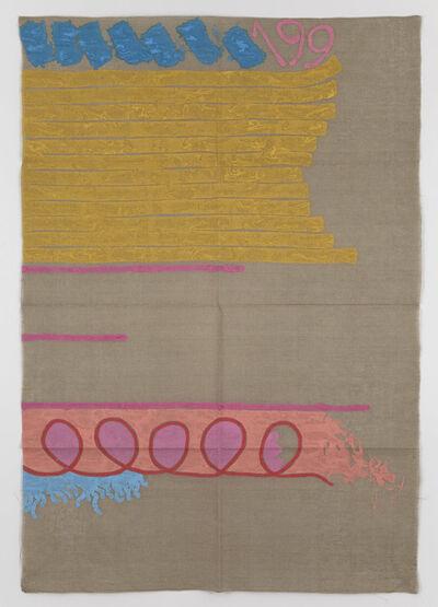 Giorgio Griffa, 'Tre linee con arabesco n.199', 1991