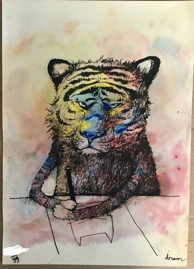 "dran, 'DRAN ""SECRET TIGER"" MULTICOLURED PRINT HAND SIGNED & NUMBERED BY ARTSIT', 2016"