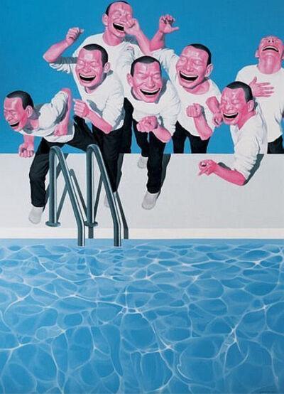 Yue Minjun, 'Take the Plunge', 2009-2010