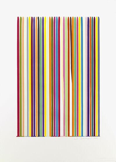 Ian Davenport, 'Etched Lines 1', 2006