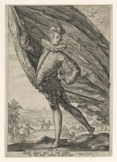 Hendrik Goltzius, 'The Great Standard-Bearer', 1587