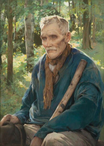 Firmin Baes, 'Vieux paysan du Condroz (Old farmer from the Condroz)', ca. 1915