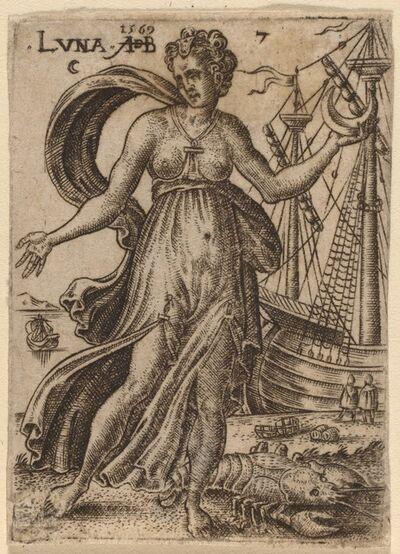 Abraham de Bruyn, 'Moon', 1569
